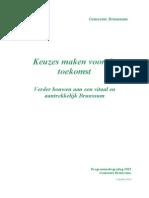 Programmabegroting 2015 - Keuzes Maken Voor de Toekomst