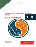Conoce Los Tipos de Bases de Datos MYSQL y Sus Diferencias