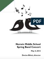 NMS Band Concert Program 2015-05-04