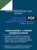 Variação Linguistica 1 Ano