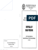 IRR of PD 856 Sanitation Code - Disposal of Dead Persons