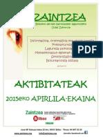 Aktibitateak 2015eko Apirila-ekaina