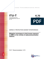 ITU-T K.70, Series K, Protection Against Interference, Human Exposure to EMF, 2007