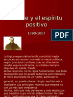 Comte y El Espíritu Positivo