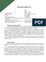 Management Report 2012