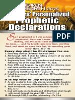 Winners Personalised Prophetic Declaration 2015