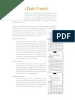 Free Data Sheets