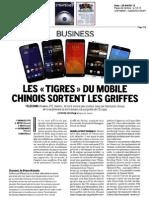 Les tigres du mobile chinois sortent les griffes