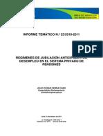 Regimen de Jubilación Anticipada AFP