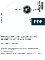 Composition and Concentrative Properties of Human Urine