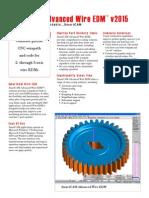 SmartCAM Advanced Wire EDM Datasheet