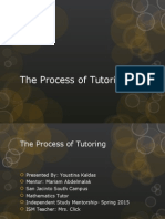 the process of tutoring