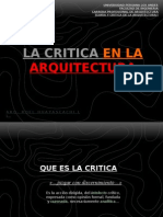 LA CRITICA EN LA ARQUITECTURA.ppt