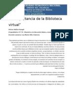 Hrangel_La Importancia de La Biblioteca Virtual