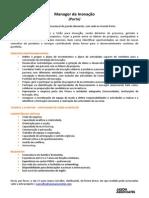 Anúncio Manager de Inovação 17 11 2014