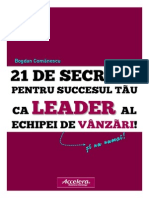 21 Secrete Sales Leadership Accelera 2014