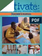 Activate Teachers Manual