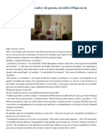 Francisco- Homilía 30-4-15 La Fe Es Historia de Pecado y de Gracia