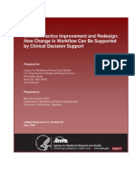 Clinical Practice Improvement and Redesign How Change in Workflow Can Be Supported by CDS