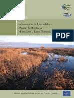 restauración de humedales- manejo sostenible de humedales y lagos someros.