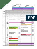 Calendario Nacional - Distrital 2015