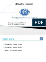 Ge Analysis Docx General Electric Strategic Management