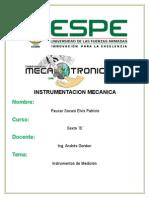 Instrumentos de Medicion (INSTRUMENTACION)