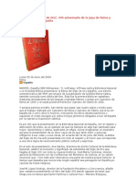 'La Biblia del Siglo de Oro', 440 aniversario de la joya de Reina y Valera, en España