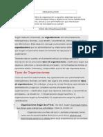 Organizaciones en La Administracion Tipos