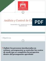Analisis y Control de Costos en Proyectos