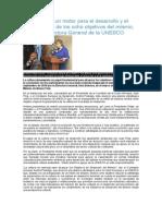 La Cultura y Los ODM - Vision UNESCO