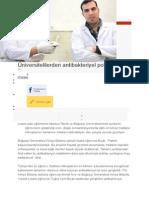 Üniversitelilerden antibakteriyel polimer