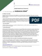 """Página_12 __ El País __ """"Fomentan La Violencia Letal"""""""
