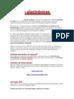 APA Fuentes Electrónicas