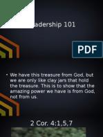 Leadership 101 5.3.15