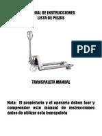 Manual de Instrucciones Inox-galv