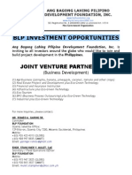 BLP Investment Opportunities (Inviting Filipino and Foreign Investors)