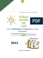 Evaluación de Los Aprendizajes 6 de Octubre