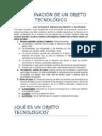 Determinación de Un Objeto Tecnológic1
