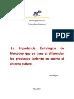 Importancia Estrategica en el Marketing y su Entorno Cultural