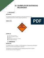 Sismbologia y Ejemplos de Sustancias Peligrosas