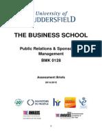 Assessment Brief - Public Relations & Sponsorship Management BMK0128