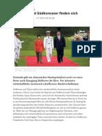 2014-07-04 Chinesen und Suedkoreaner finden sich NZZ