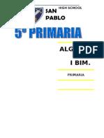 Algebra 5TO PRIMARIA