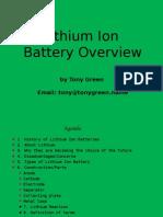 Lithuim Battery Overview
