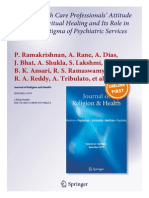 Indian Physician's Perspectives on Spirtuality and Stigma Aliviation in Psychiatry-Ramakrishnan Et Al JRH Jan 2014