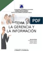 La Gerencia y La Información