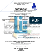 Convocatoria LIE 2015