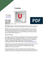 about Uranium