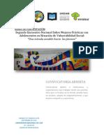 Bases de Participación del II Encuentro Nacional Mejores Prácticas con Adolescentes en SVS - Bahía Blanca 18-19/Sept/2015